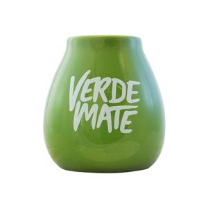 Tykwa ceramiczna zielona z logo Verde Mate - 350 ml